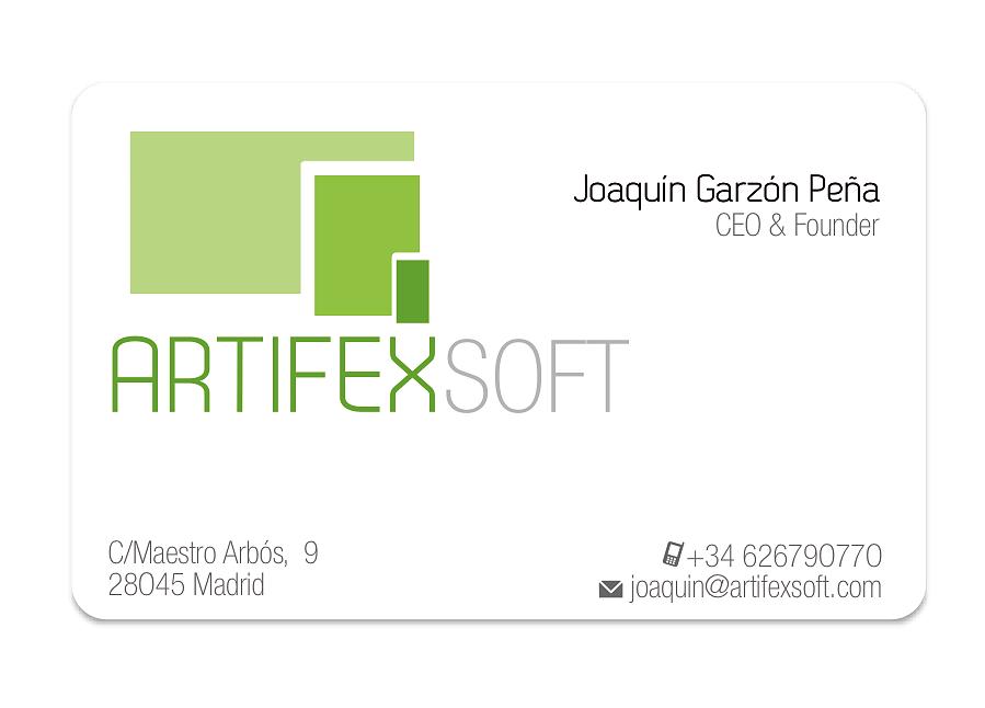 Tarjeta profesional Artifexsoft