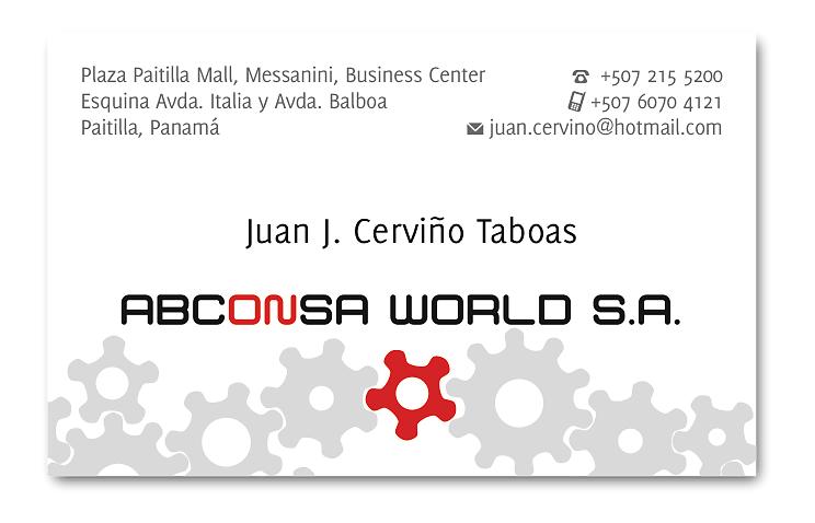 Tarjeta profesional ABCONSA World